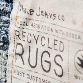 Gamla jeans blir exklusiva mattor