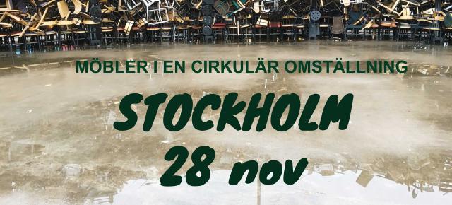 Utbildningen om cirkulära möbler och återbrukad inredning till Stockholm